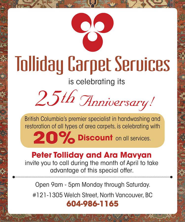 Tolliday Carpet Services Sale